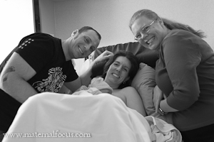 Doula Andrea Lythgoe attending a birth