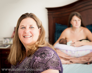 Postpartum Doula with New Mom