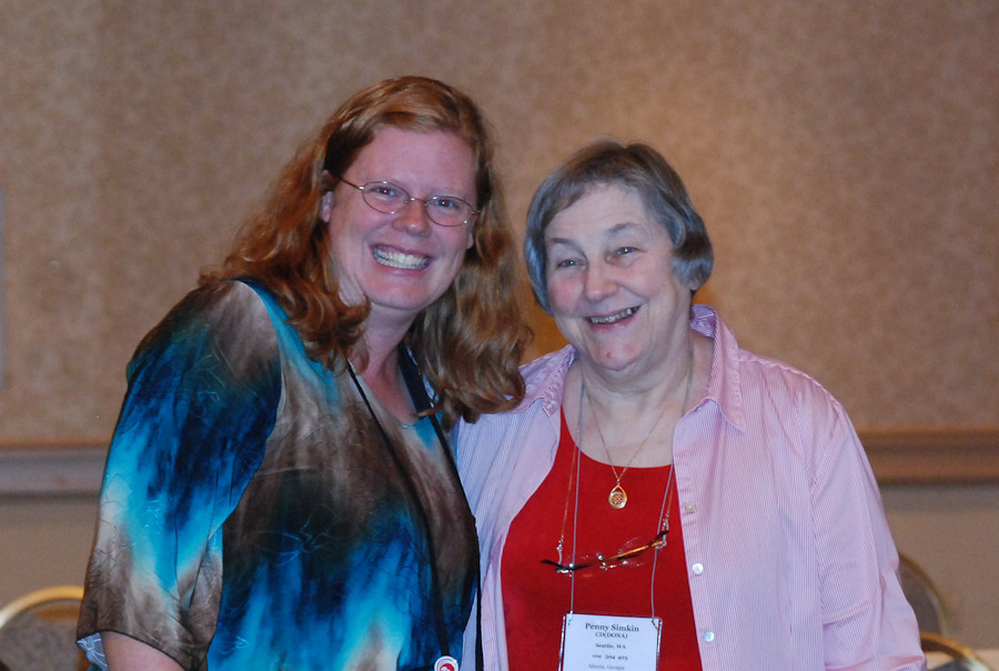 Andrea Lythgoe and Penny Simkin at the Atlanta DONA International conference