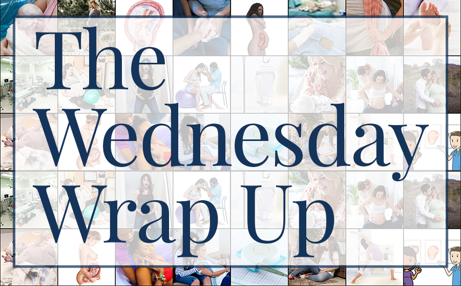 Collage of images with Wednesday Wrap Up superimposed