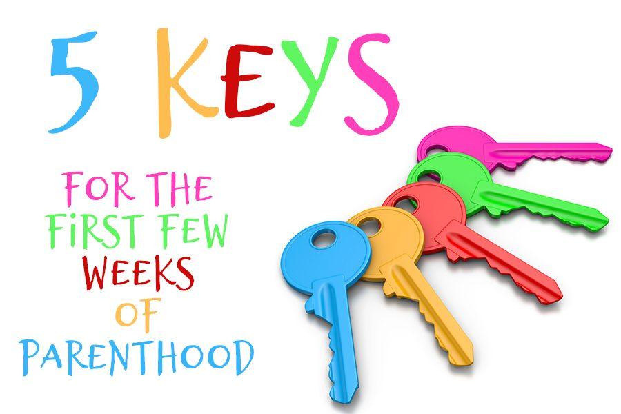 Colorful set of keys