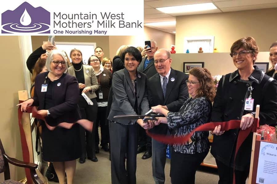 Ribbon cutting at Mountain West Mother's Milk Bank